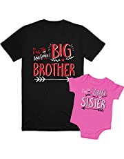 Texas Tees Sibling Shirts for Sister and Brother, Hipster Design, Includes Big Sister to Be
