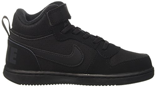 Nike Court Borough Mid (Psv) - Zapatillas de baloncesto Niños Negro (Black/Black 001)