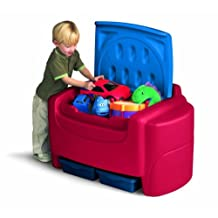 Little Tikes Sort 'N Store Primary Colors Toy Chest-Red