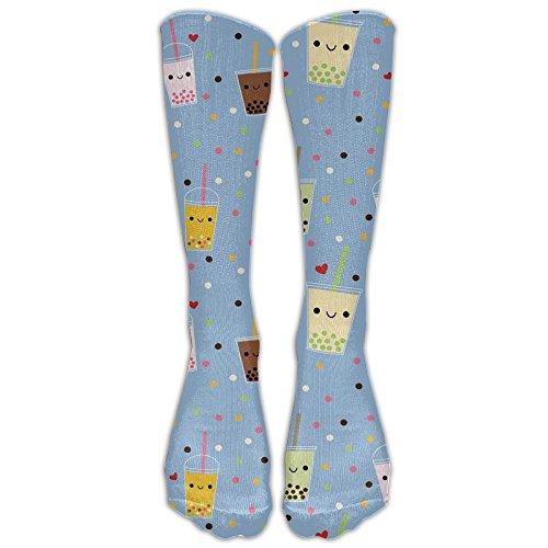Tweed Bubble (Bubble Tea Fashion Knee Socks Soft Golf Teen Knee-high Crew Socks)