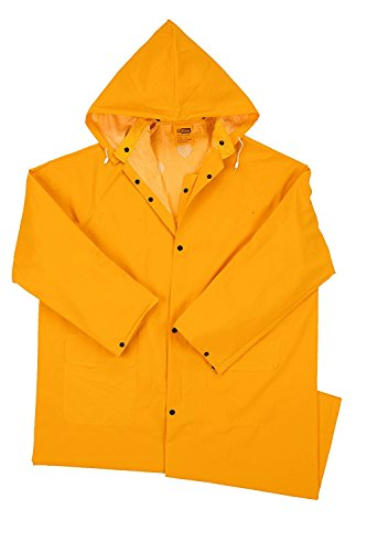 "West Chester 4148 X2XL 35 mil PVC Polyester Raincoat, 48"", 3XL, Yellow"