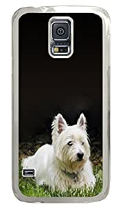 Samsung Galaxy S5 Case and Cover Westie in the Grass Animal PC case Cover for Samsung Galaxy S5 Transparent