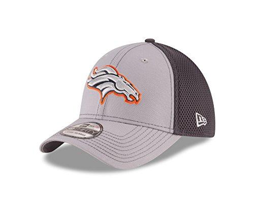 New Era NFL Denver Broncos Grayed Out NEO 2 39THIRTY Stretch Fit Cap, Medium/Large, Gray (Stretch Era New)
