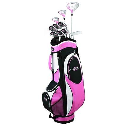 Amazon Com Golf Girl Fws2 Lady Lefty Pink Hybrid Club Set Cart