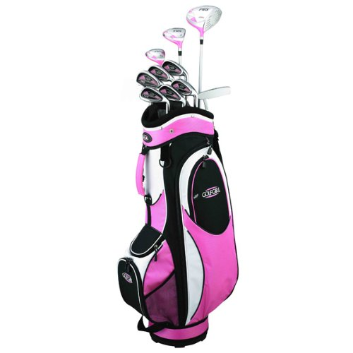 Golf Girl FWS2 Lady Lefty Pink Hybrid Club Set & Cart Bag