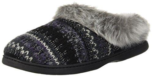 Clog Black Knit Women's Width Slipper Dearfoams Wide vnwfHqvU