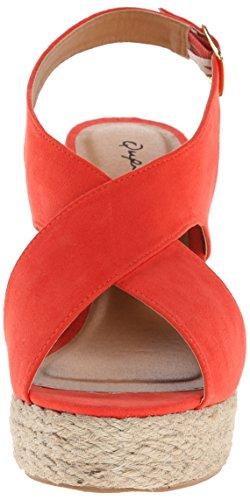10a Wedge Sandal Women Qupid Cammi Tangerine Twq66Zp