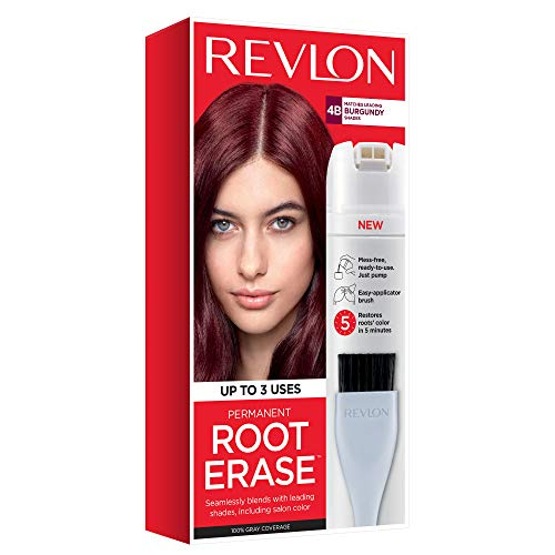 Revlon Root Erase Permanent Hair Color, Root Touchup Hair Dye, Burgundy, 3.2 Fluid Ounce