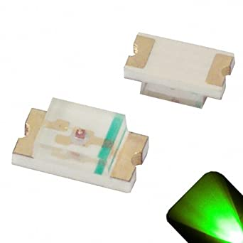 25 x Green 1206 SMD Chip LED
