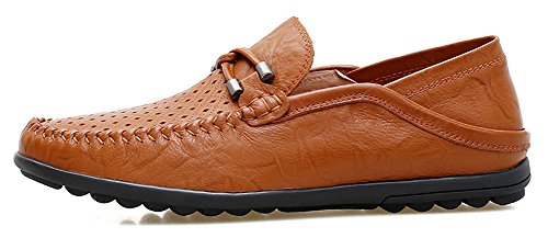 Casual brown Shoes Car Slip Driving Boat MOHEM On R hole2050 Loafers Soft Octopus Men's Flats Comfort q6vHSUCnx
