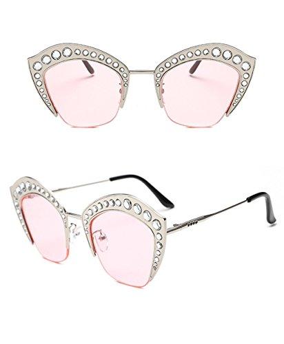 élégantes Couleur 3 Sunglasses Lunettes Lunettes Lunettes de Trend de Ronde Soleil des coréennes X498 Dames Soleil personnalité 1 Z1HqppwaI