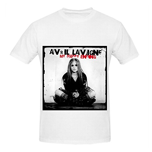 Avril Lavigne My Happy Ending Pop Mens Crew Neck Design T Shirts White (Ti Fighter Star Wars compare prices)