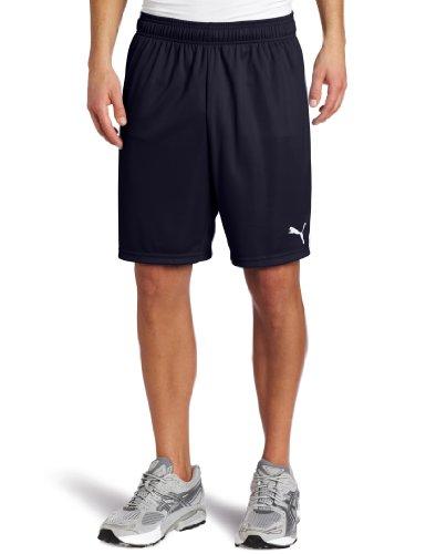Puma Team Shorts without Inner Slip, New Navy-White, X-Large