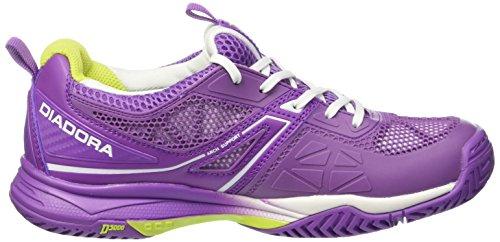 Diadora S.Pro Evo II W AG, Chaussures de Tennis Femme Multicolore - Multicolore (C5275 Viola Chicco/Bianco)
