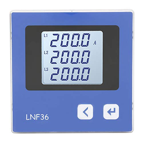 Amperage Current Digital AC Current Measurement Energy Panel Power Meter Ammeter for Control Systems for Industrial Automation(LNF36)