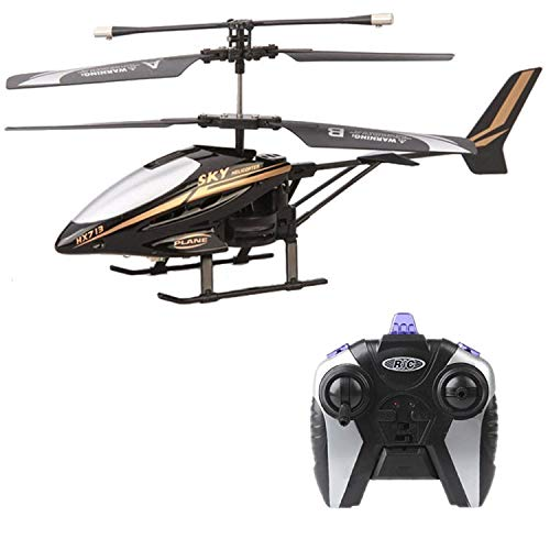 Heli Radio Air Rc (Helicopter Drones with Camera hd Mini Drone dron Quadcopter RC HX713 2.5CH Helicopter Radio Remote Control Aircraft,A Black)