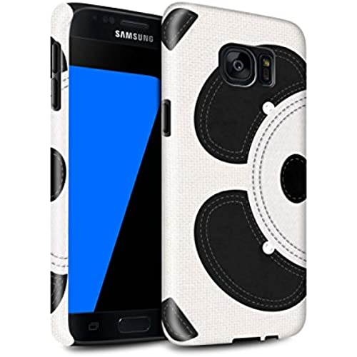 STUFF4 Gloss Tough Shock Proof Phone Case for Samsung Galaxy S7/G930 / Panda Design / Animal Stitch Effect Collection Sales