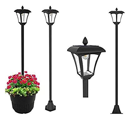 "65"" Street Vintage Outdoor Garden LEDs Bulb Solar Lamp Post Light Lawn - Adjustable"