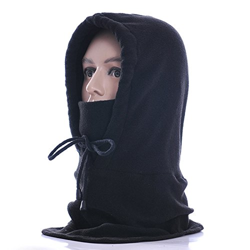 Balaclava,HLHyperLink Wind-proof Thicken Warm Full Face Cover Winter Ski Mask Outdoor Sports Mask baclava hood(Black)
