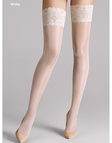 Wolford Satin Touch 20 Stay-Up - Mujer 20 Denier Admiral