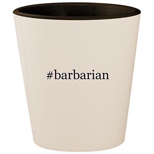 #barbarian - Hashtag White Outer & Black Inner Ceramic 1.5oz Shot Glass
