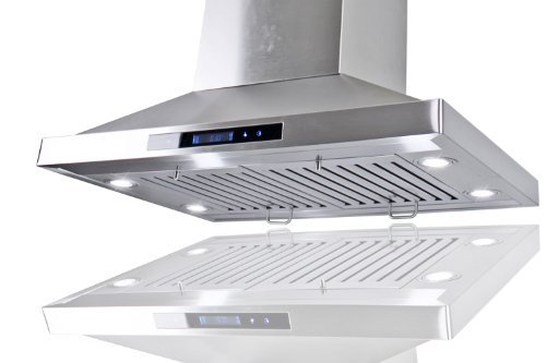 "Golden Vantage Stainless Steel 30"" Euro Style Island Mount Range Hood LCD Screen GV-GL-9002-30"