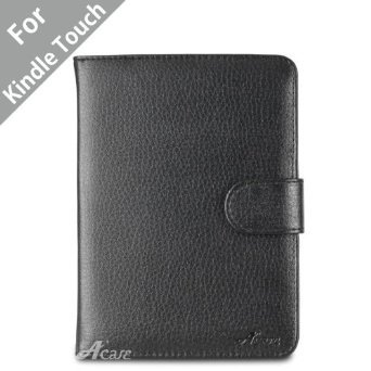 Acase(TM) Leather Case for Kindle PaperWhite and Kindle Touch Wi-Fi / 3G (Black)