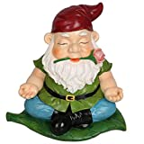CCOQUS Zen Gnome Garden Statue,Yoga Gnome Figurine – Outdoor Lawn Patio Fairy Garden Decor (Red) For Sale