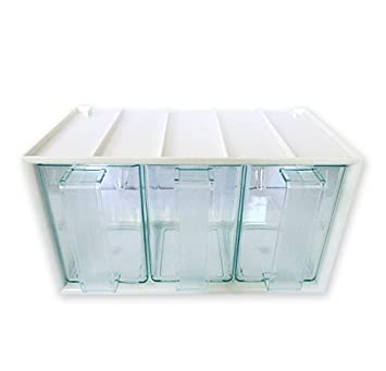 Küchenschütte 3er schüttenkasten luxus grün transparent inkl 3 schütten