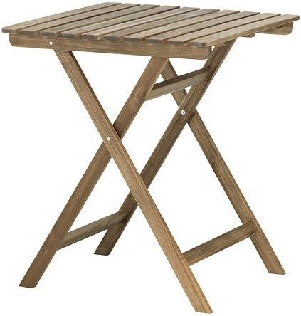 Ikea ASKHOLMEN - Mesa, Gris-marrón - 60x62 cm: Amazon.es: Hogar