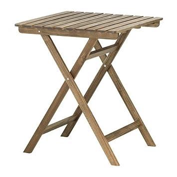 Ikea askholmen plegable 60 x 62 cm, Marrón, acacia maciza