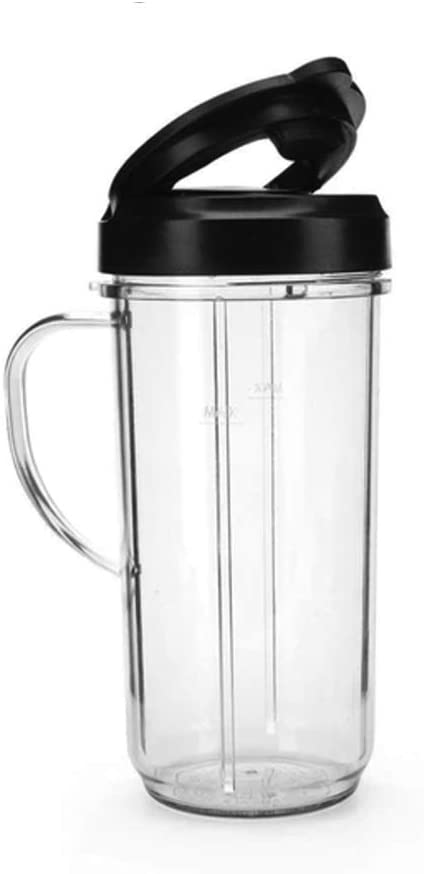 Magic Bullet MBM-U0230 22 Ounce Travel Mug with Flip Top Lid, Black
