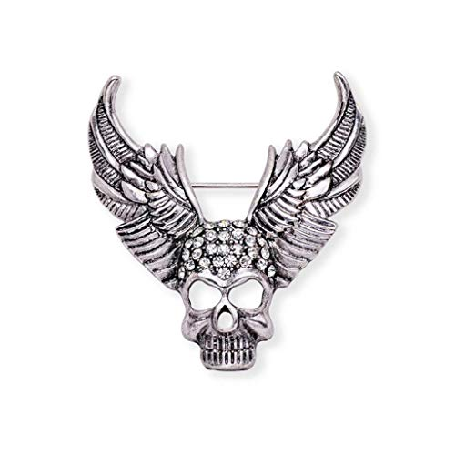 Gothic Punk Skull Skeleton Brooch Lapel Pin Halloween Party Costume Jewelry | Item - 7