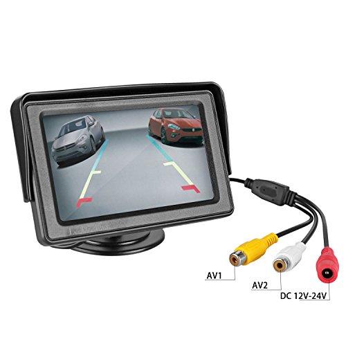 best leekooluu reverse camera and monitor kit license plate backup camera parking system for car. Black Bedroom Furniture Sets. Home Design Ideas
