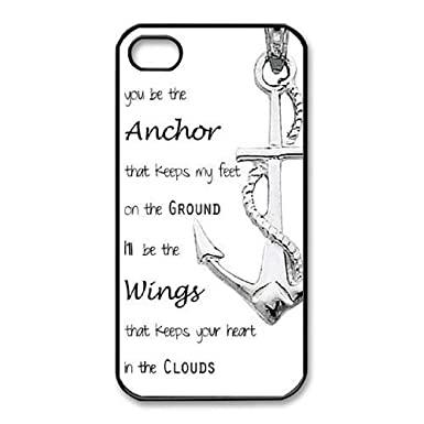 Unique Phone Cases Brysg Iphone 44s Cell Phone Case Black Anchor