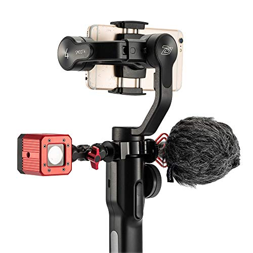 """FOTOWELT O-Ring Cold Shoe Clamp Adapter Extension Mount Ring with 1/4"""" Screw Compatible for Zhiyun Smooth 4 Gimbal Accessory"""