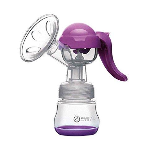 Milchpumpe Avent Hand Brustpumpen Manuelle Stillen Baby Vakuum Melkmaschine (Lila)