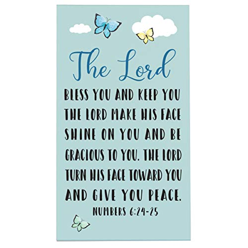 LifeSong Milestones Baptism Christening Nursery Gifts for Baby Boys and Girls Wall Decor Sign Plaque Gift with Quote for Godson Godchild Son for 1st Holy Communion 8