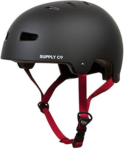 Skaterhelm BMX Helm Freestyle Helm Shaun White H1 schwarz weiß Gr. M, L Skateboarding (Schwarz, M (52-54))