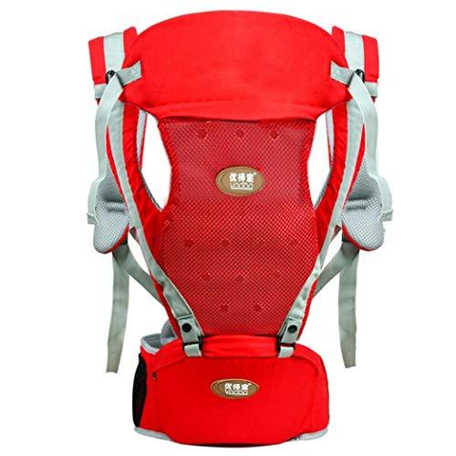 Baby Carrier, professionelle Gürtel Baby Hocker, multifunktionale Baby Größe Hocker, atmungsaktive Baby Carrier für vier Jahreszeiten, Hip Seat für alle Jahreszeiten,rot