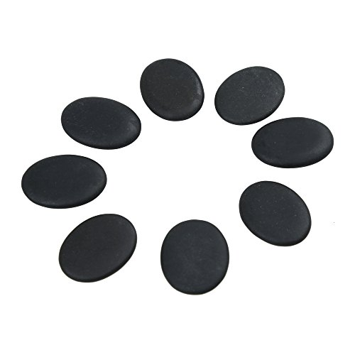 - Romonacr 8Pcs Professional Small Massage Hot Stone Set Natural Lava Heated Stones Basalt Warmer Rock for Spa, Massage Therapy 1.18 x 1.57 x 0.31in(3x4x0.8cm) Black