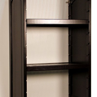 "16"" Deep Woodcrest Adjustable Shelves (Set of 2) Finish: Espresso"