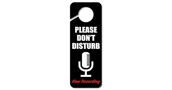 Amazon.com: Please Don t Disturb ahora Micrófono de ...