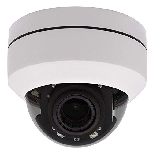 Outdoor 5MP PTZ IP Ceiling Dome POE Security Camera Pan Tilt 4X Motorized Optical Zoom 165FT IR Night Vision Motion Detection Remote View Onvif RTSP Support AT-800DZ White