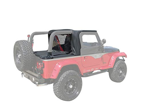 2000 Optional Overhead - RAMPAGE PRODUCTS 994015 Cab Top for Soft Top Vehicles Only | Fits 1997-2002 Jeep Wrangler TJ, Black Denim