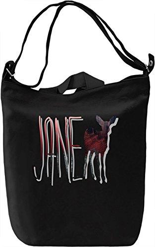 Jane Borsa Giornaliera Canvas Canvas Day Bag| 100% Premium Cotton Canvas| DTG Printing|