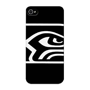 Fireingrass Durable Defender Case For Iphone 5/5s Tpu Cover(seattle Seahawks Logo Black And White) Best Gift Choice