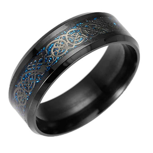 Aunimeifly Women Men Hip Hop Titanium Steel Wedding Band Delicate Carved Charm Rings Jewelry