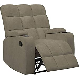 Mainstays Tyler Wall Hugger Storage Arm Recliner Chair, Sage