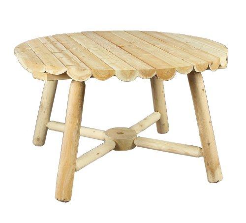 cedarlooks 110013a log round umbrella table, 48-inch